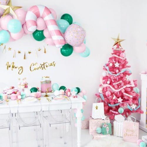 kerstversiering-papieren-tasjes-pink-christmas