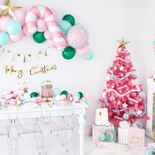 kerstversiering-slinger-golden-stars-pink-christmas-3