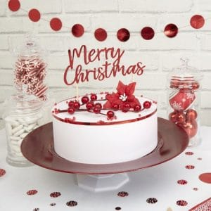 kerstversiering-cake-topper-merry-christmas-red-white-christmas