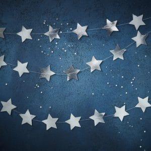 kerstversiering-slinger-star-silver-foil-christmas-night