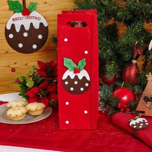 kerstversiering-wijnflescover-christmas-pudding-rood