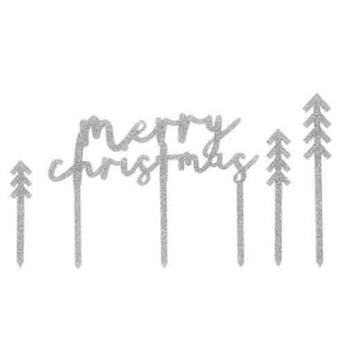 kerstversiering-cake-topper-merry-christmas-pink-christmas