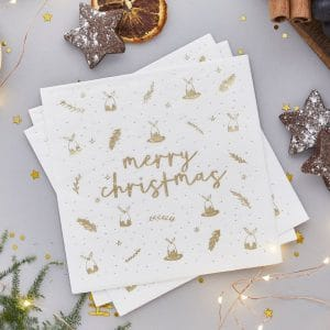 kerstversiering-servetten-merry-christmas-gold-white-2