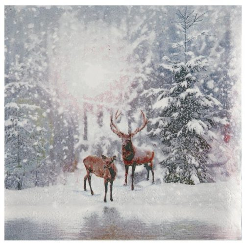 kerstversiering-servetten-reindeers-in-the-snow-3