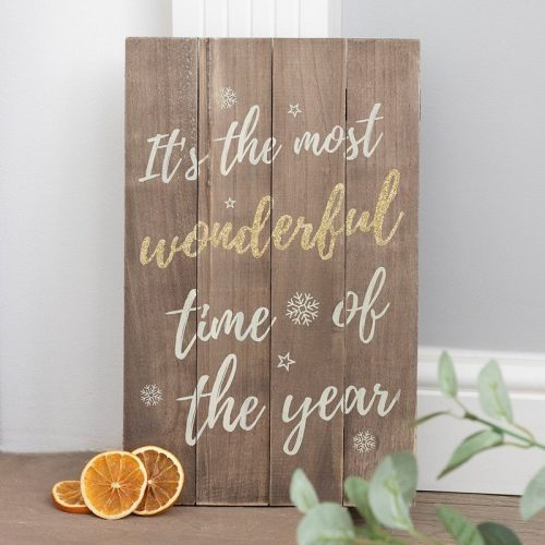 kerstversiering-bord-its-the-most-wonderful-time-of-the-year