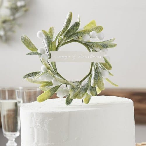 kerstversiering-cake-topper-misletoe-snow-place-like-home-3
