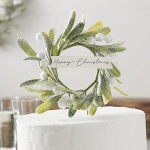 kerstversiering-cake-topper-misletoe-snow-place-like-home