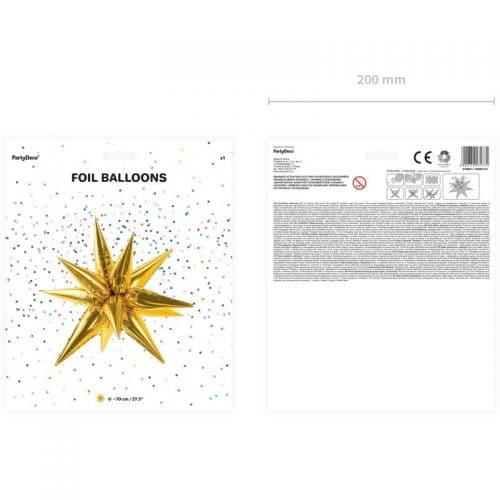 kerstversiering-folieballon-3d-golden-star-medium