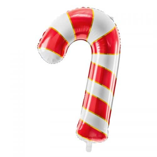 kerstversiering-folieballon-candy-cane-red-gold