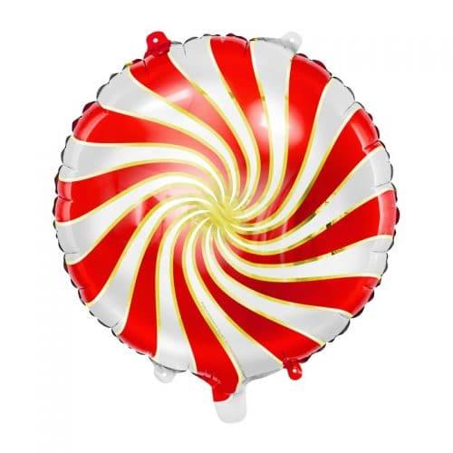 kerstversiering-folieballon-candy-red-gold