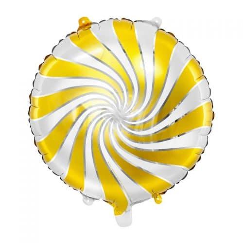kerstversiering-folieballon-candy-white-gold