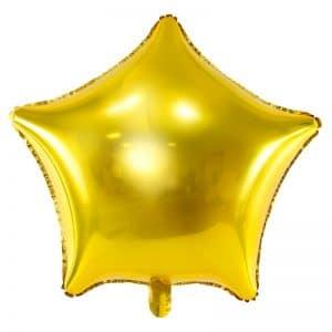 kerstversiering-folieballon-golden-star-70cm