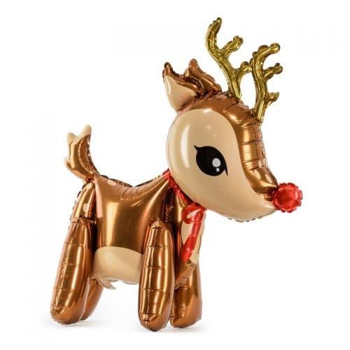 kerstversiering-folieballon-reindeer