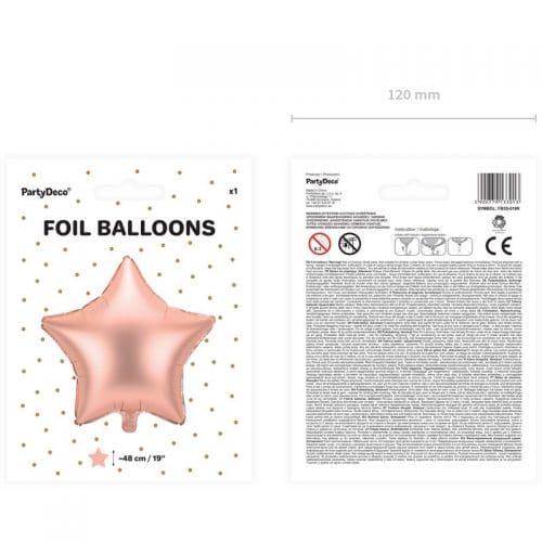kerstversiering-folieballon-rose-golden-star-48cm-2
