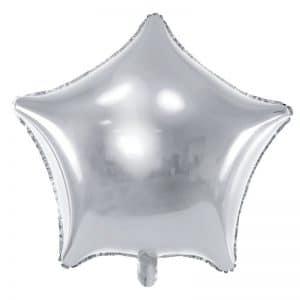 kerstversiering-folieballon-silver-star-70cm