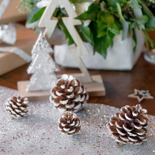 kerstversiering-houten-decoratie-fir-cones-wit