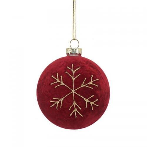 kerstversiering-kerstbal-red-flocked-snowflake