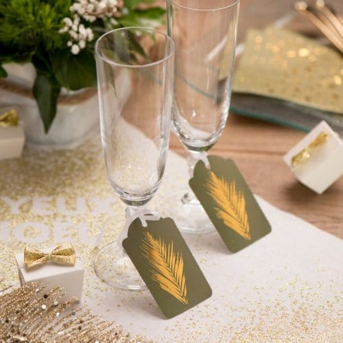 kerstversiering-label-christmas-palm-green-gold