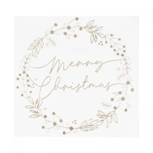 kerstversiering-servetten-golden-wreath-a-touch-of-sparkle