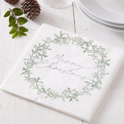 kerstversiering-servetten-misletoe-wreath-snow-place-like-home-2