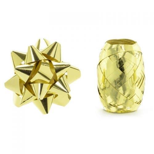 kerstversiering-set-ribbons-and-rosettes-goud