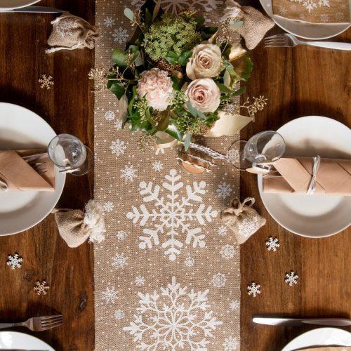 kerstversiering-tafelloper-snowflake-2