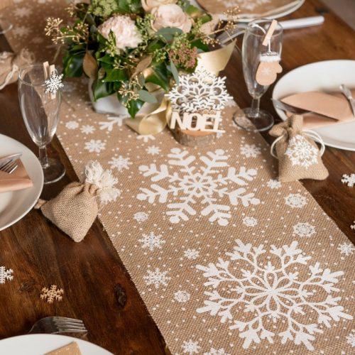 kerstversiering-tafelloper-snowflake
