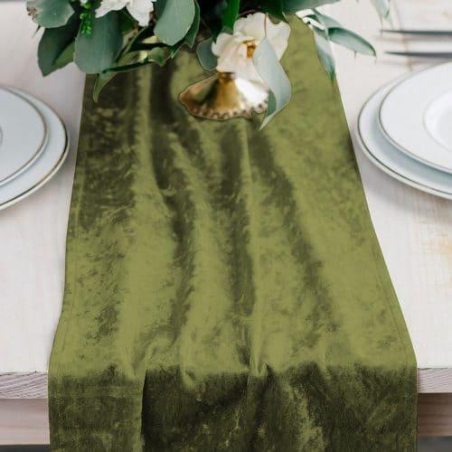 kerstversiering-velvet-tafelloper-emerald-green-2