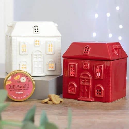 kerstversiering-wax-melt-brander-red-christmas-house