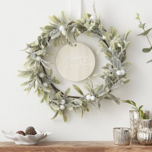 kerstversiering-wreath-misletoe-merry-christmas-snow-place-like-home-3