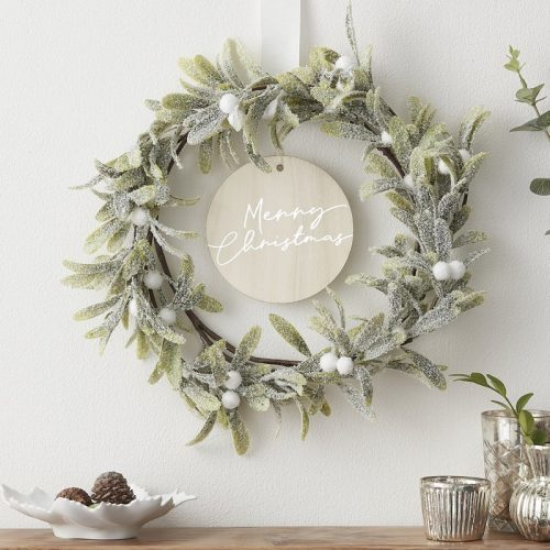 kerstversiering-wreath-misletoe-merry-christmas-snow-place-like-home