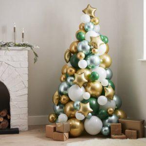 kerstversiering-ballonnenboom-green-gold-white-nordic-noel
