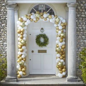 kerstversiering-deurkit-ballonnen-gold-white-deck-the-halls-3