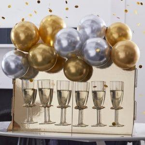 kerstversiering-drink-stand-chrome-balloons-navy-luxe-2