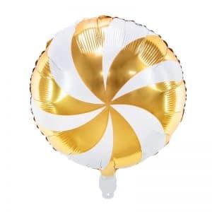 kerstversiering-folieballon-candy-gold-white