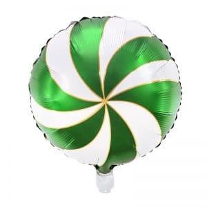 kerstversiering-folieballon-candy-green-white