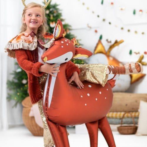 kerstversiering-folieballon-deer-red-white (1)