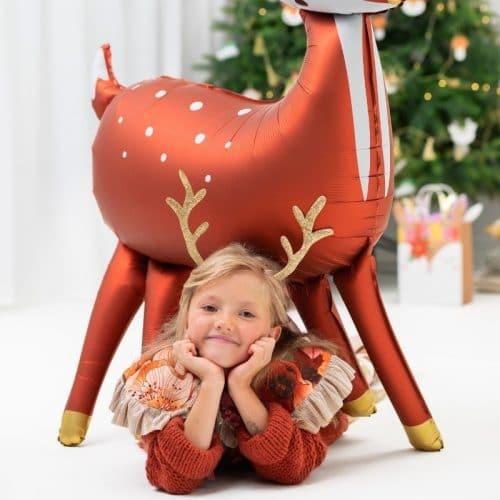 kerstversiering-folieballon-deer-red-white (2)