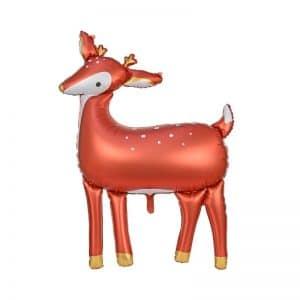 kerstversiering-folieballon-deer-red-white