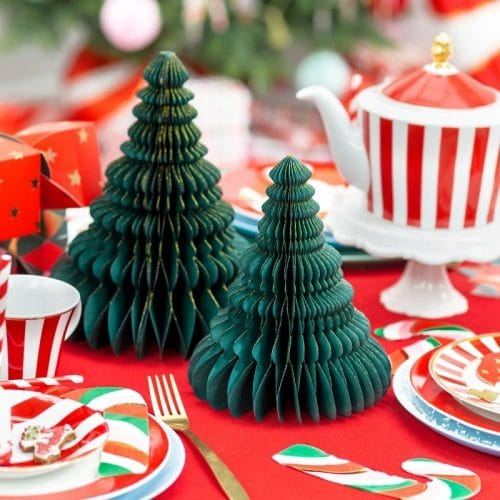 kerstversiering-honeycomb-christmas-tree-bottle-green-15-cm (1)