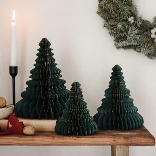 kerstversiering-honeycomb-christmas-tree-bottle-green-20-cm (1)