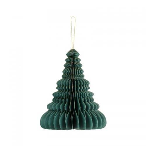 kerstversiering-honeycomb-christmas-tree-bottle-green-20-cm