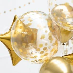 kerstversiering-orb-ballon-dots-gold-40cm (1)