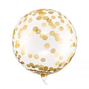 kerstversiering-orb-ballon-dots-gold-40cm