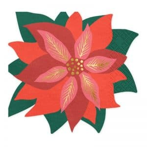kerstversiering-servetten-red-star-of-bethlehem