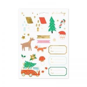 kerstversiering-stickers-winter-forest